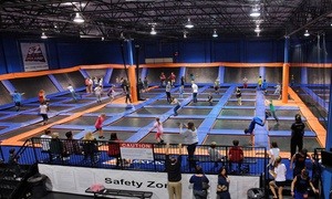 Sky Zone Winnipeg: Two 60-Minute Indoor-Trampoline-Park Passes at Sky Zone Winnipeg (Up to 47% Off). Two Options Available.