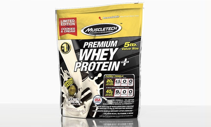 5lb. Bag of Protein MuscleTech Premium Whey Protein Plus