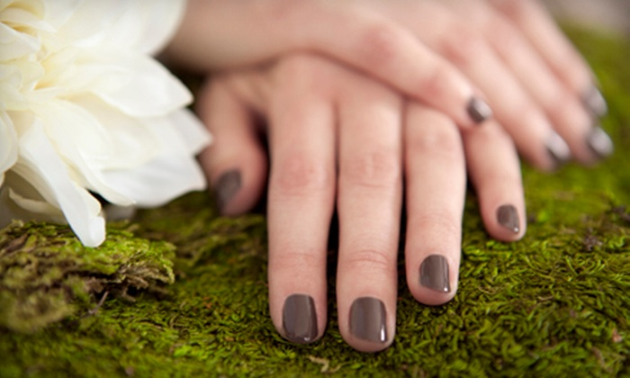 Margene Walters at Salon Revolution - Downtown: Shellac Manicure with Optional Regular Pedicure from Margene Walters at Salon Revolution (Half Off)