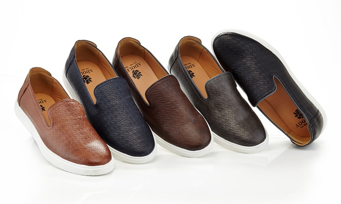Adolfo Men's Woven Slip-On Casual Shoes