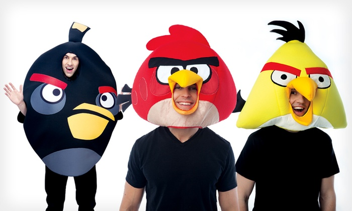 Angry Birds Plush Fabric Mask or Adult Costume. Multiple Options Available. Free Shipping and Returns