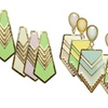 Gold-Plated Acrylic or Epoxy Fashion Earrings