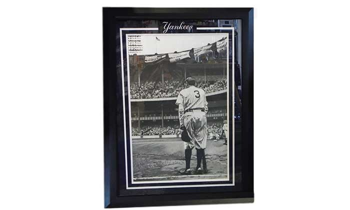 The Cowboy House: 1948 Babe Ruth Farewell Photo Stippling Ink Art  with Option for Framing from The Cowboy House (Up to 74% Off)