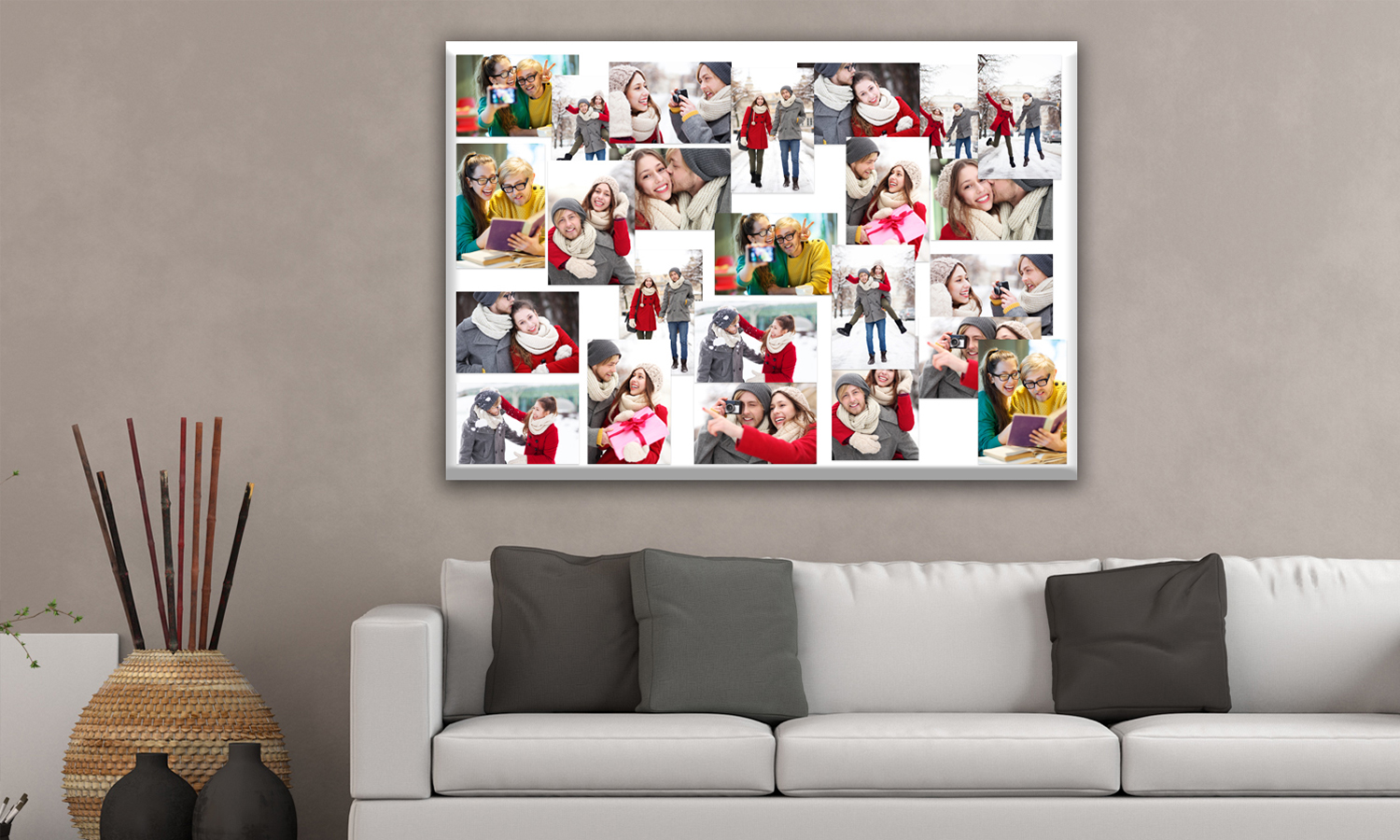 Foto collage auf leinwand groupon goods - Leinwand fotocollage ...