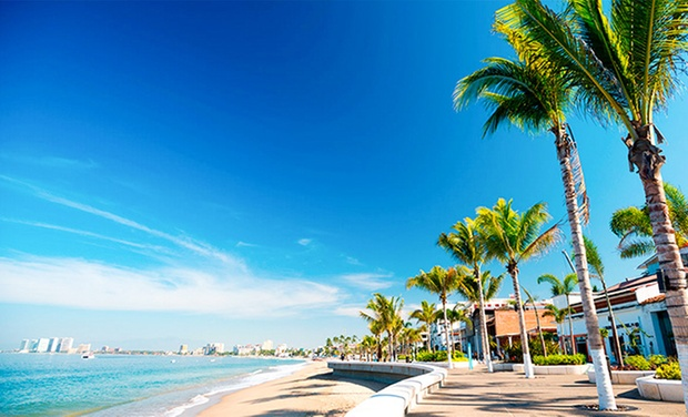 Tropical Resort Near Beach In Puerto Vallarta