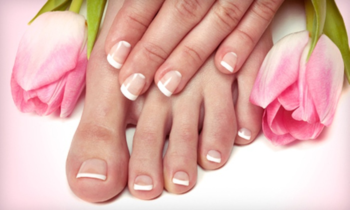 That Look Hair Gallery - Bowie: Pedicure and Shellac Manicure or Three Spa Mani-Pedis at That Look Hair Gallery in Bowie (Up to 65% Off)