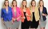 Women's 3/4 Sleeve Blazer: Women's 3/4 Sleeve Blazer