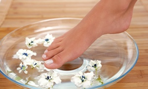 Nail Club & Spa LLC: $37 for Luxury Mani-Pedi with Reflexology Massage ($80 Value)