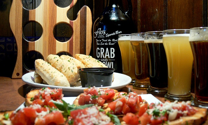 Flo's Pizzeria Ristorante - Belmont: One or Two Beer Flights, Appetizers, and Growler Packages at Flo's Pizzeria Ristorante (Up to 49% Off)