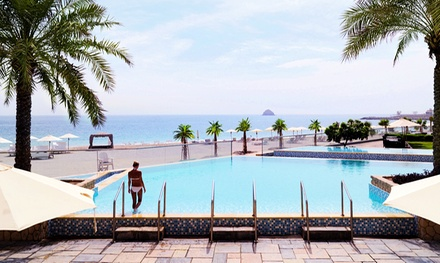 Fujairah: 1 or 2 Nights for Two with All Inclusive Meals, Drinks and Discounts at 5* Radisson Blu Resort Fujairah
