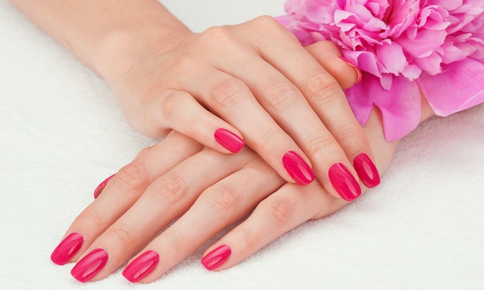 Roberto Giordano Salon and Spa - Brickell Plaza: One, Two, or Three Mani-Pedis with Wine at Roberto Giordano Salon and Spa (Up to 57% Off)