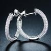 18K White-Gold Pavé Huggie Earrings