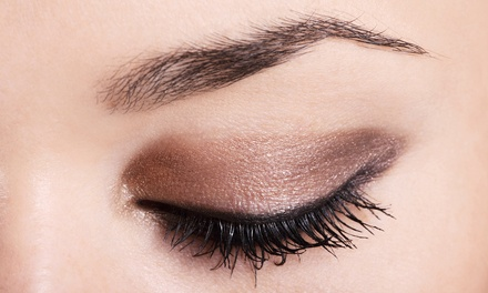 One Eyelash Perm and Brow Shaping or Full Set of Glam Lash Extensions and Brow Shaping at Sublime Eyes (50% Off)