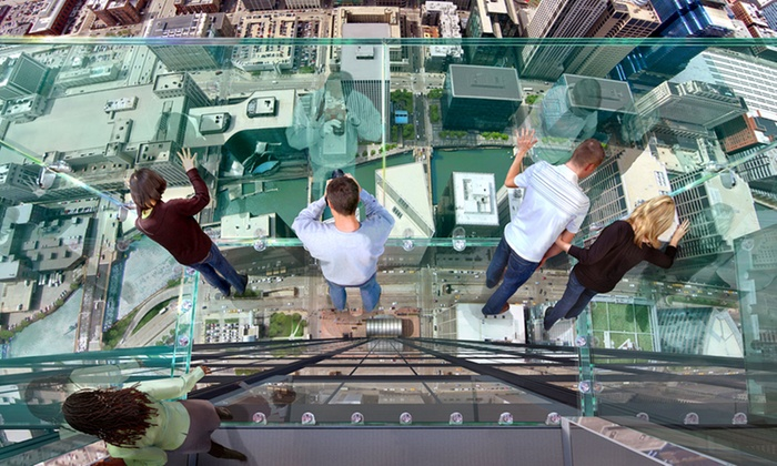 Skydeck Chicago - The Loop: Skydeck Chicago Experience for Two or Four at Willis Tower