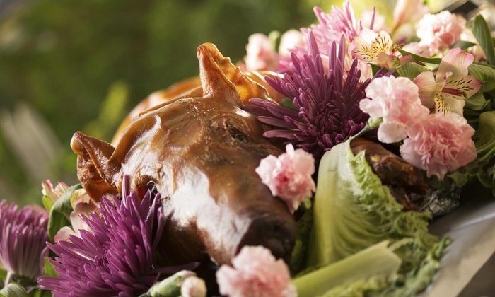 Pig Thyme Catering - Boston: $899 for a Catered Pig-Roast Dinner for Up to 40 from Pig Thyme Catering (Up to $1,800 Value)