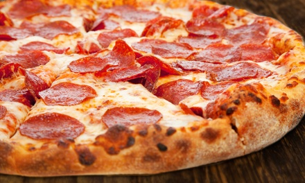$18 for Three Groupons, Each Good for $10 Worth of Pizza at Hungry Howie's ($30 Value). Four Locations Available.