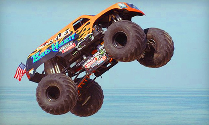 """""""Bad Habit Monster Truck Night"""" - Imperial: Race Night for Two or Four at Pittsburgh's PA Motor Speedway in Imperial on June 9 at 7 p.m. (Up to Half Off)"""