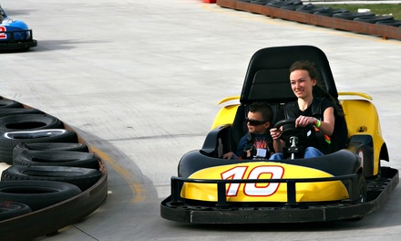 Admission to Three Attractions and Sodas for One, Two, or Four at Adventure Speedway (53% Off)
