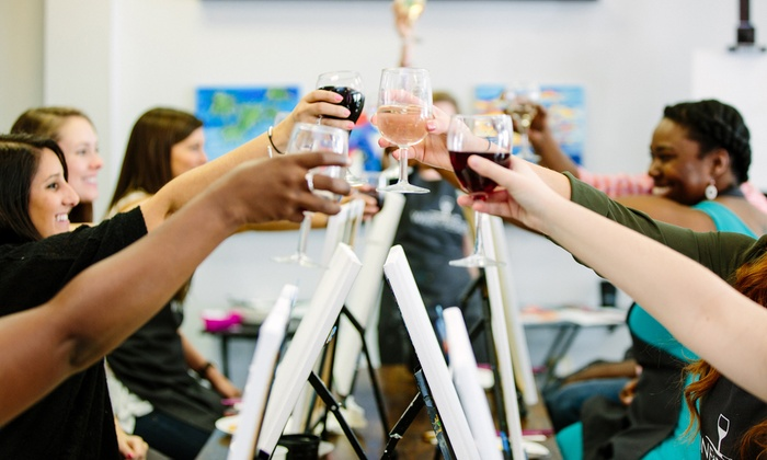 Byob Paint And Sip Class Wine Design Groupon