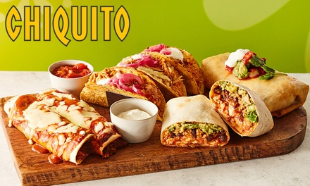 TwoCourse TexMex Meal for Two at Chiquito, Nationwide