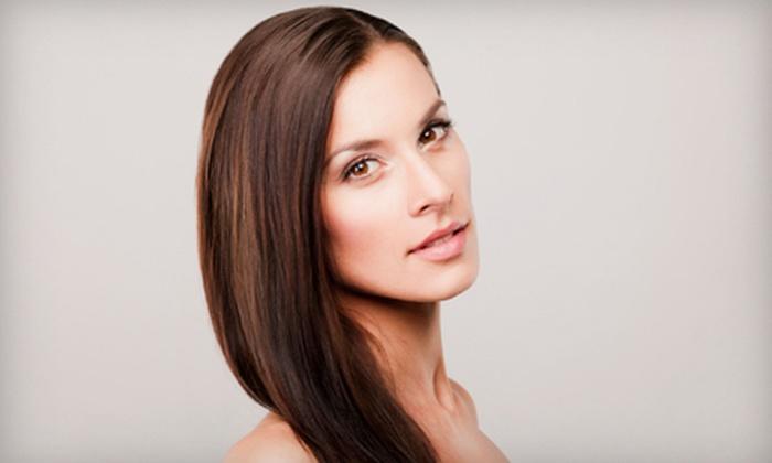 Up Close Beauty, Max - Up Close Beauty Max: Keratin Smoothing Treatment or Chi Transformation Straightening Treatment at Up Close Beauty, Max (Up to 66% Off)