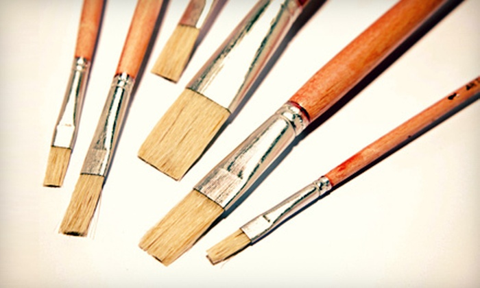 UnWined Art - Multiple Locations: $50 for a Painting Class for Two with Appetizers and Beverages at UnWined Art ($120 Value)
