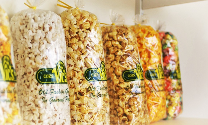 Vic's Corn Popper - Multiple Locations: Gourmet Popcorn at Vic's Corn Popper (40% Off). Two Options Available.