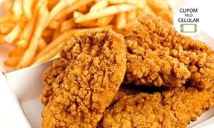 America Wings: America Wings – Setor Bueno: filé de frango empanado (250 ou 750 g) + refrigerante (opção com fritas)