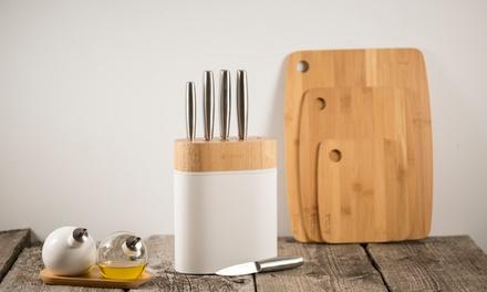 5 piece knife block set