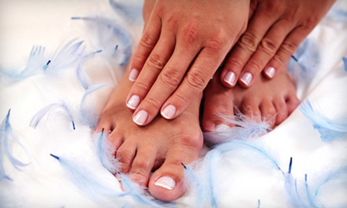 Madison Avenue Salon & Day Spa - Multiple Locations: Mani-Pedi with Paraffin Hand Treatment or Acrylic Nails with Fill at Madison Avenue Salon & Day Spa (Up to 55% Off)