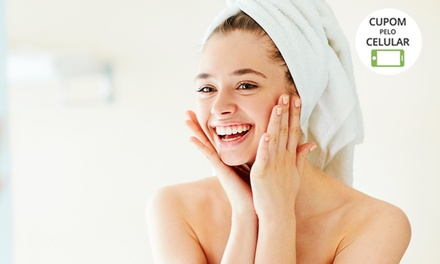 Limpeza de pele + hidratação + tratamento para flacidez facial na Central das Franquias Emagreceeem   Mezanino Shopping