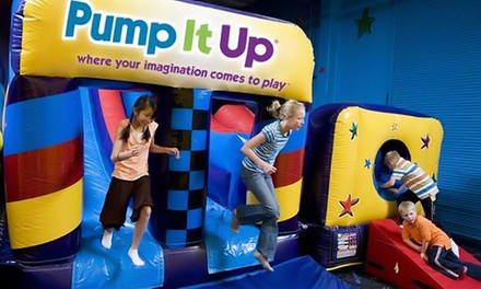 10 Open-Jump Sessions, Parent's Night Out, or Tween Night at Pump It Up of Crystal Lake (Up to 50% Off)