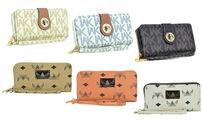 0c55671a61f41a Wendy Keen Double Layer Zip-Around and Twist-Lock Wallet | Groupon