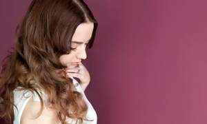 The Hair and Face Lounge: Hairstyling Package with Optional Highlights at The Hair and Face Lounge (Up to 53% Off). Four Options Available.