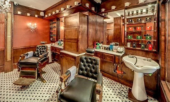 The New York Shaving Company - Multiple Locations: Traditional Shave with One Haircut or Traditional Shave Two Haircuts and Bottle of Shave Oil at The New York Shaving Company (53% Off)