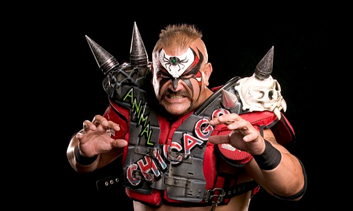 """Cross The Line"" with special guest Road Warrior Animal - Kankakee REC Center: $16 for Ticket to Pro Wrestling Blitz's Cross the Line on Saturday, November 8, at Kankakee REC Center ($36.52 Value)"