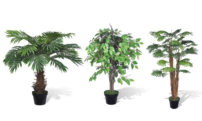 Parete Piante Artificiali : Piante artificiali con vaso groupon goods