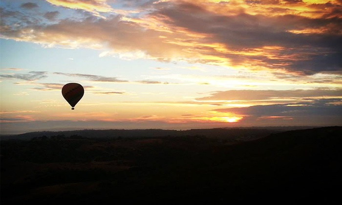 Skysurfer Balloon Company - Carmel Valley: $195 for a Champagne Sunset Hot-Air Balloon Ride with Champagne from Skysurfer Balloon Company Inc. ($ Value)