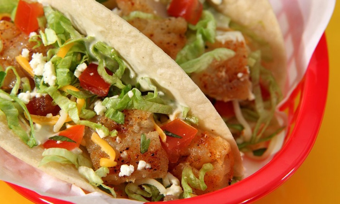 Fuzzy's Taco Shop - West University: $18 for Two Groupons, Each Good for $14 Worth of Mexican Food at Fuzzy's Taco Shop ($28 Value)