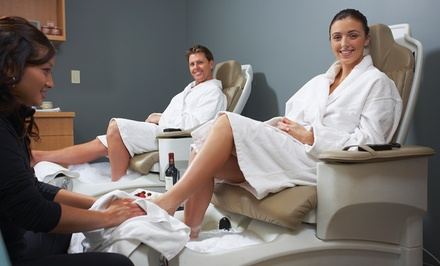 Salon Packages for Men or Women with Facials and Mani-Pedis at Euro International Salon (Up to 54% Off)