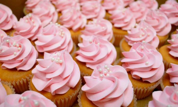"""JustKaking Custom Cakes & Treats - Pearl: A Dozen Cupcakes or $40 Toward 8"""" Round Custom Cakes at JustKaking Custom Cakes & Treats (Up to 50% Off)"""