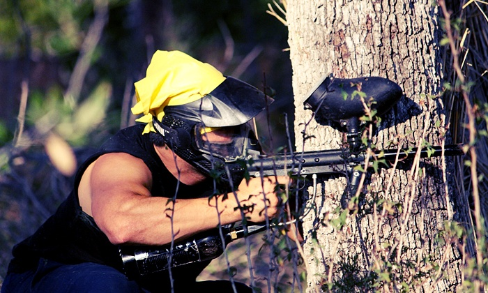 Stunt Ranch - Dripping Springs-Wimberley: Paintball Outing for Two or Four with Equipment and Paintballs at Stunt Ranch (Up to 54% Off)