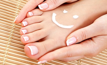 Shellac Manicure, Mani-Pedi, or Foot Pamper Package with $10 Worth of Products at Style by Lynae (Up to 51% Off)