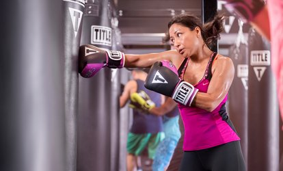 image for Two Weeks or One Month of Unlimited Classes at TITLE <strong>Boxing</strong> Club (Up to 65% Off)