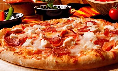 ¡Solo durante 24h! italiano con pizza, calzone o focaccia para dos o cuatro con entrantes, postre y bebida desde 16,95