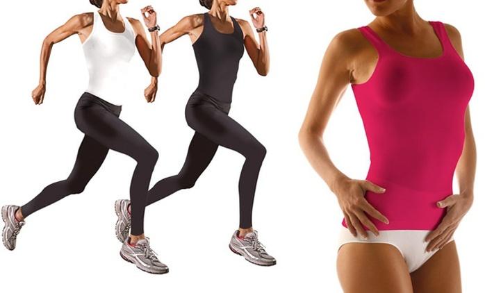 Set top e leggings effetto snellente da 24,90 € (fino a 88% di sconto)