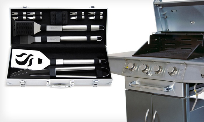 4- or 14-Piece Cuisinart Grilling Set: 4- or 14-Piece Cuisinart Grilling Set (Up to 67% Off)