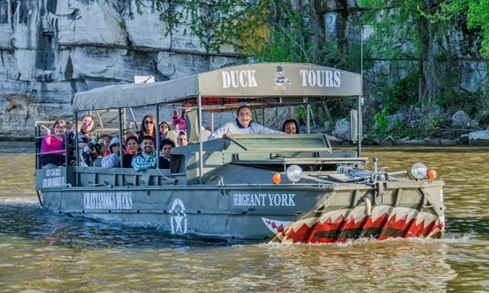 Chattanooga Ducks - Downtown Chattanooga: Amphibious-Vehicle Tour of the Tennessee River for a Child or an Adult from Chattanooga Ducks (Up to 36% Off)