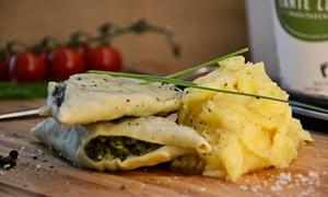 Tante Lenes Maultaschen: Maultaschen mit Kartoffelsalat inkl. Limonade für zwei Personen bei Tante Lenes Maultaschen (53% sparen*)