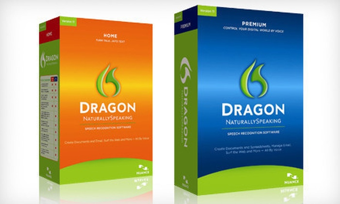 Dragon Speech-to-Text Software: Dragon NaturallySpeaking Home and Premium Editions, Version 11/11.5 (Up to 71% Off)